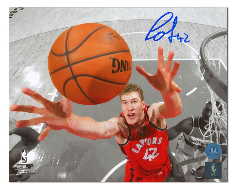 0b77d1eec Jakob Poeltl Toronto Raptors Autographed Signed Net Cam Spotlight 8x10  Photo - Certified Authentic