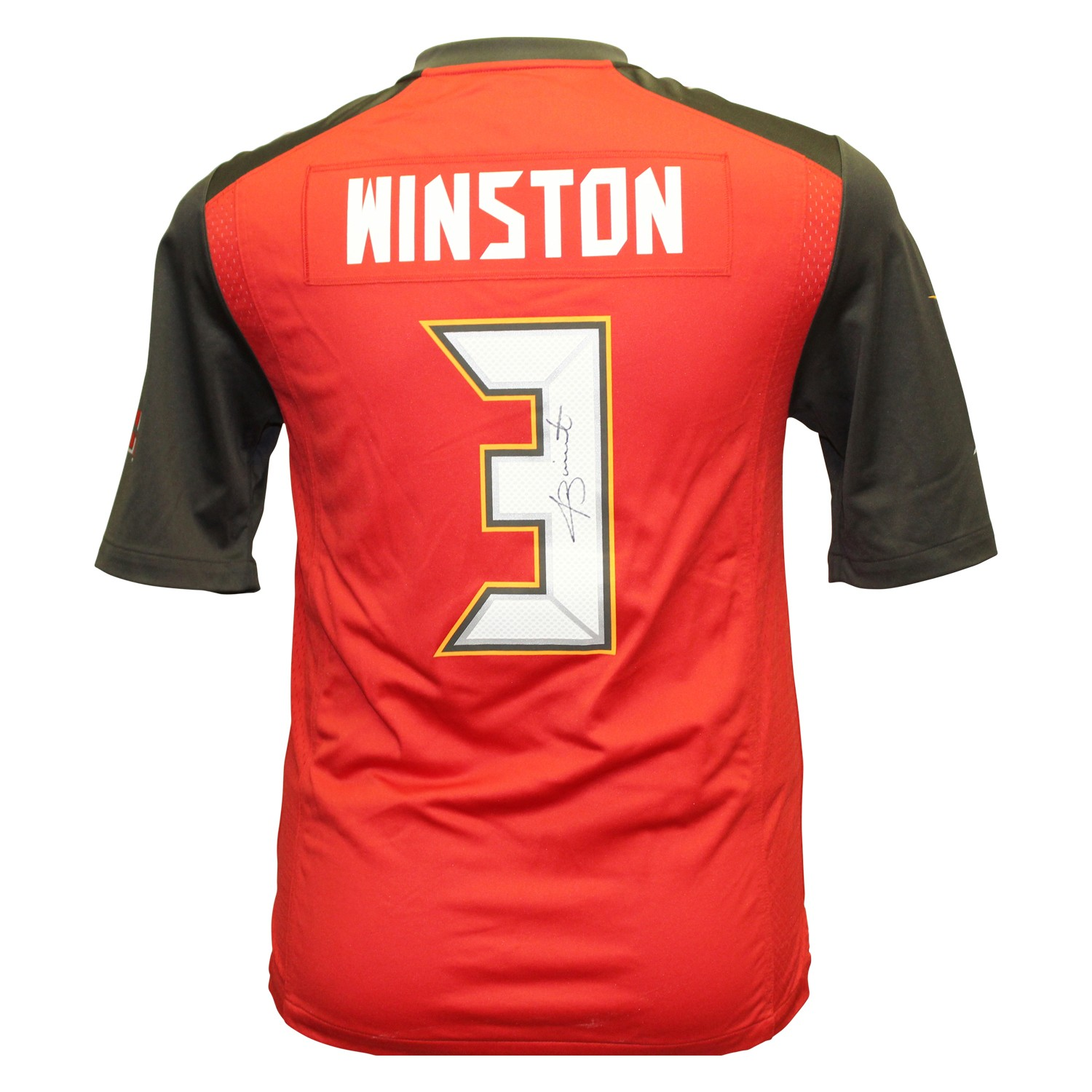 Jameis Winston Autographed Signed Tampa Bay Buccaneers Nike On Field Jersey  - Size L - Certified Authentic b04f9a72f