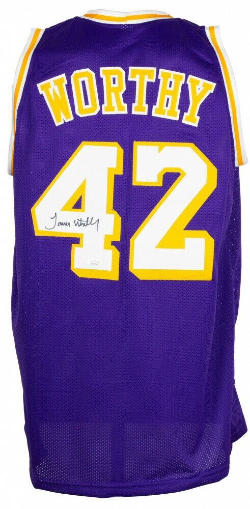 James Worthy Autographed Signed Los Angeles Lakers Jersey (JSA COA ...