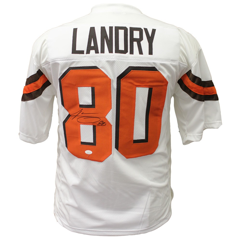 hot sale online 8801e f5ae6 Jarvis Landry Cleveland Browns Autographed Signed White ...