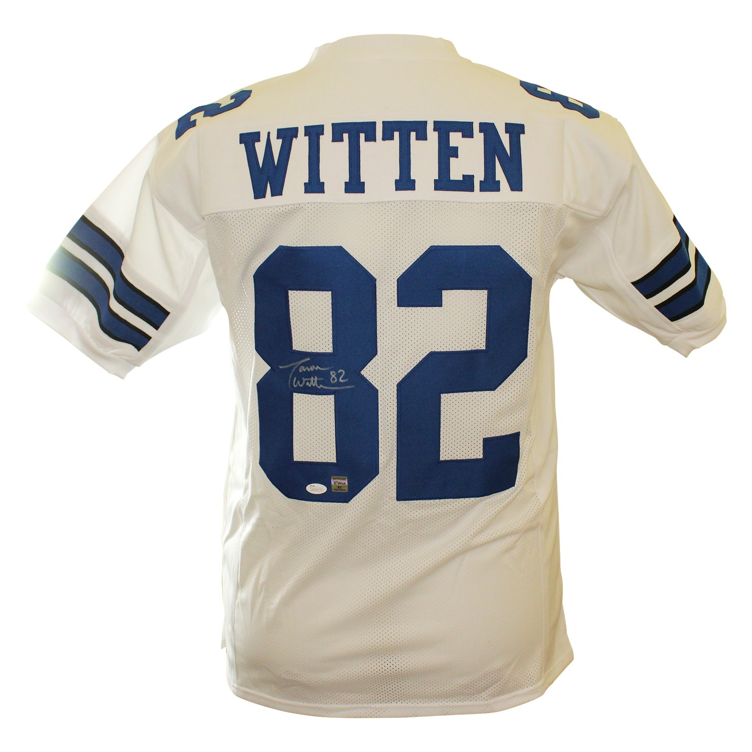 177aab12 Jason Witten Autographed Signed Dallas Cowboys White Custom Prostyle ...