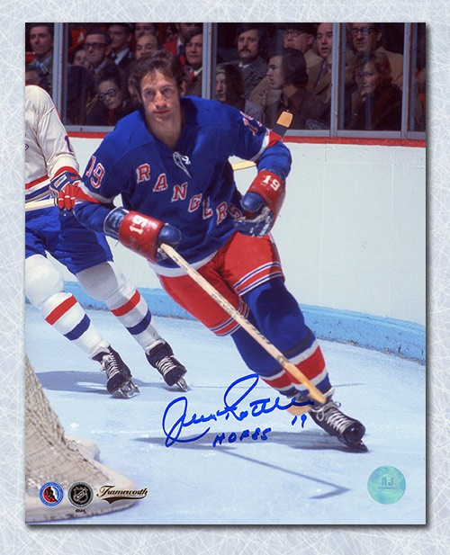 c53223518 Jean Ratelle New York Rangers Autographed Signed Game Action 8x10 Photo -  Certified Authentic