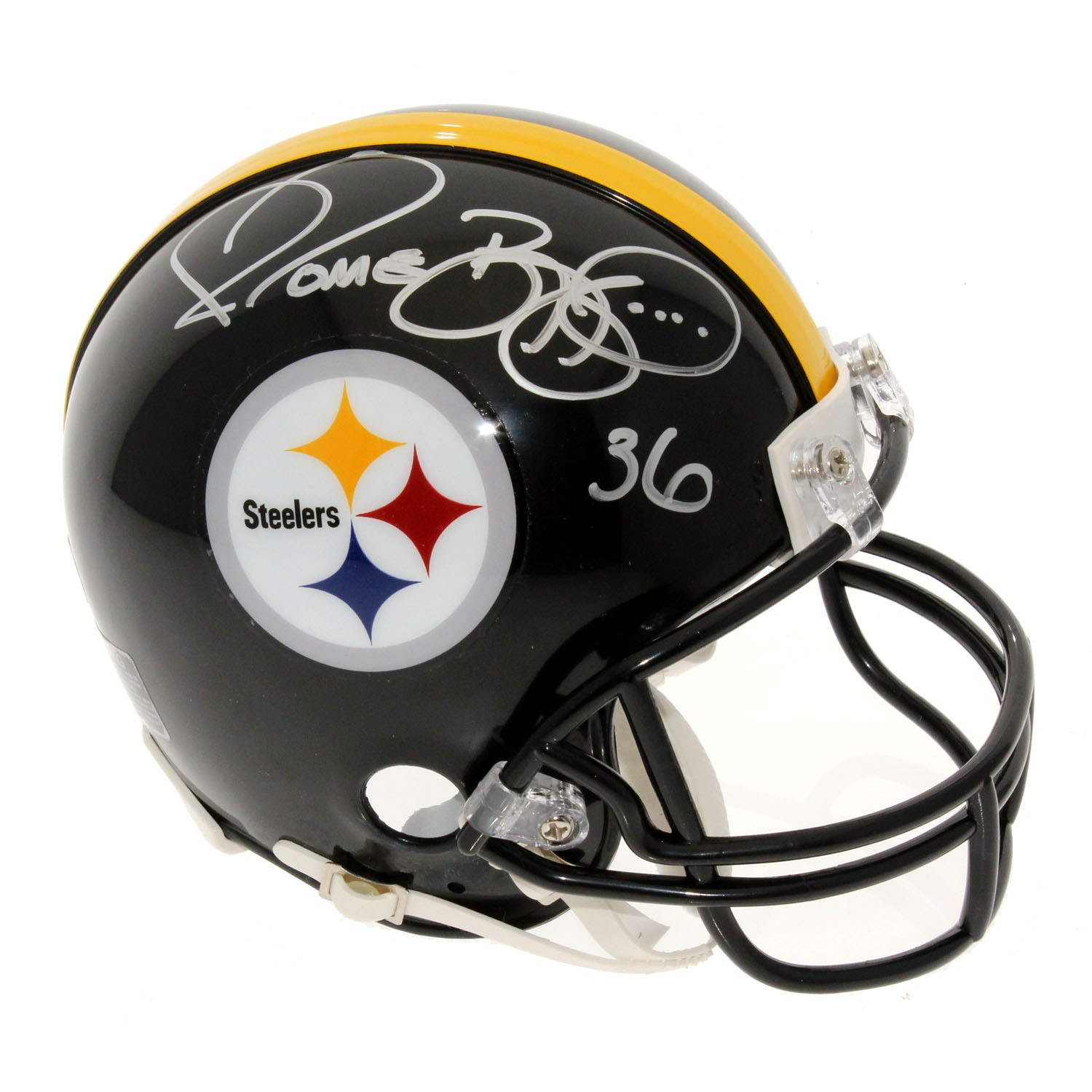 226c64d4cfa Jerome Bettis Autographed Signed Pittsburgh Steelers Mini Helmet - PSA/DNA  Certified Authentic