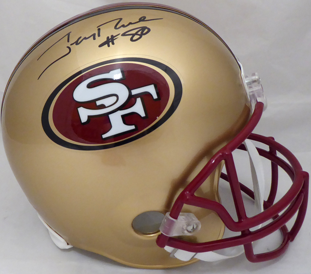 d086cd5b2 Jerry Rice Autographed Signed San Francisco 49ers Full Size Replica Helmet  96-08 Autographed Signed  80 - Beckett Authentic