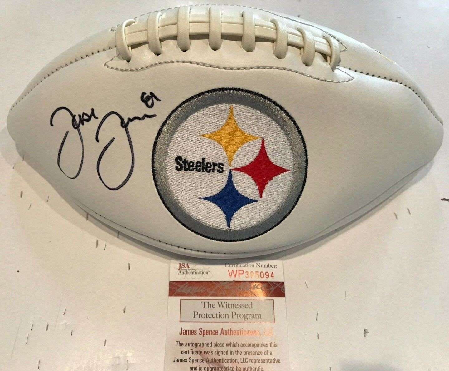 Jesse James Autographed Signed Pittsburgh Steelers Logo Football - JSA  Authentication 10881dd79