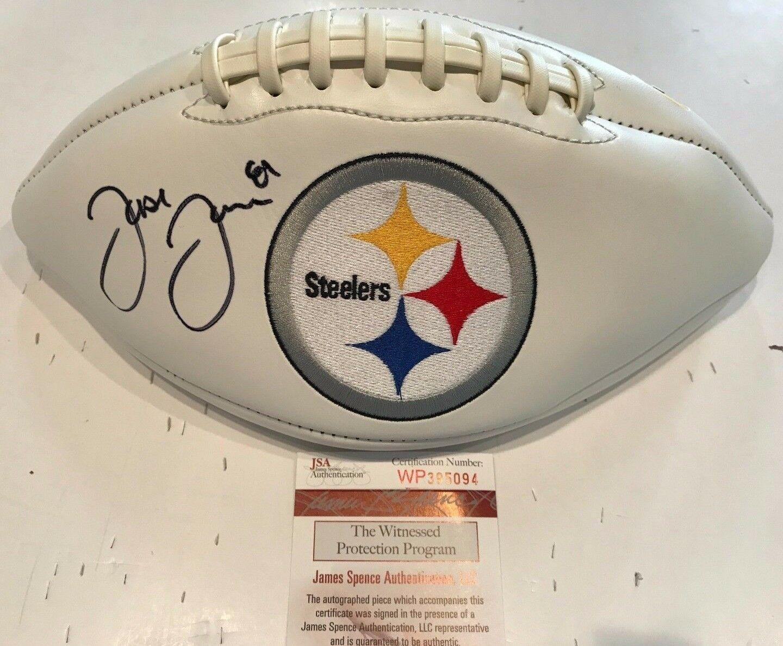 b297d81ed6f Jesse James Autographed Signed Pittsburgh Steelers Logo Football - JSA  Authentication