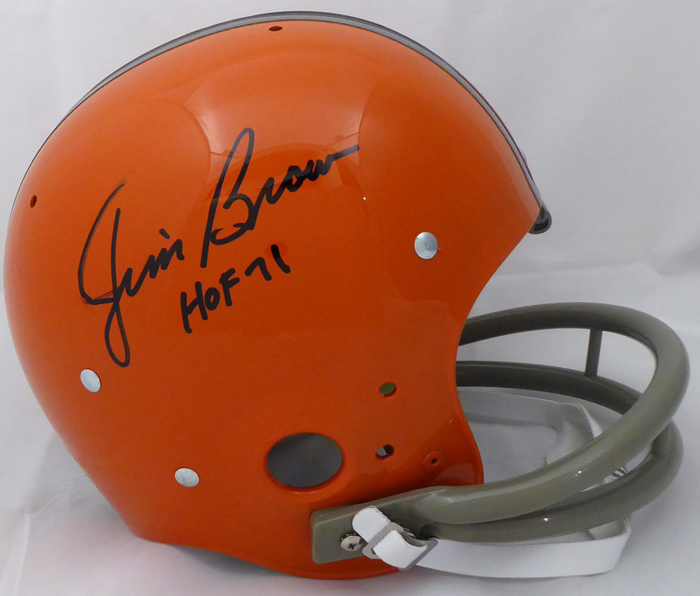 check out af345 aa88d Jim Brown Autographed Signed Cleveland Browns Full Size ...