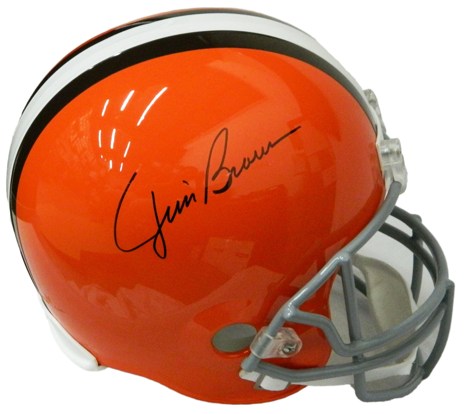 meet c10a2 39abf Jim Brown Autographed Signed Cleveland Browns Riddell Full ...