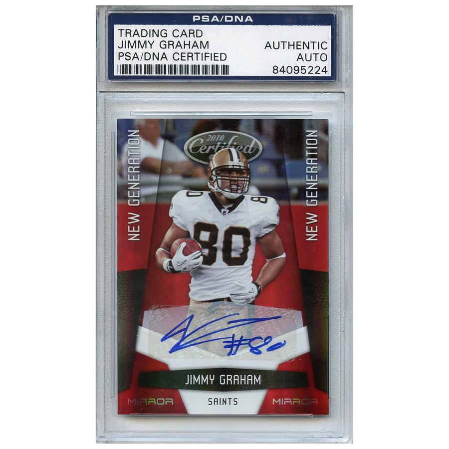 best service 78c95 21acf Jimmy Graham Autographed Signed Football Trading Card New ...