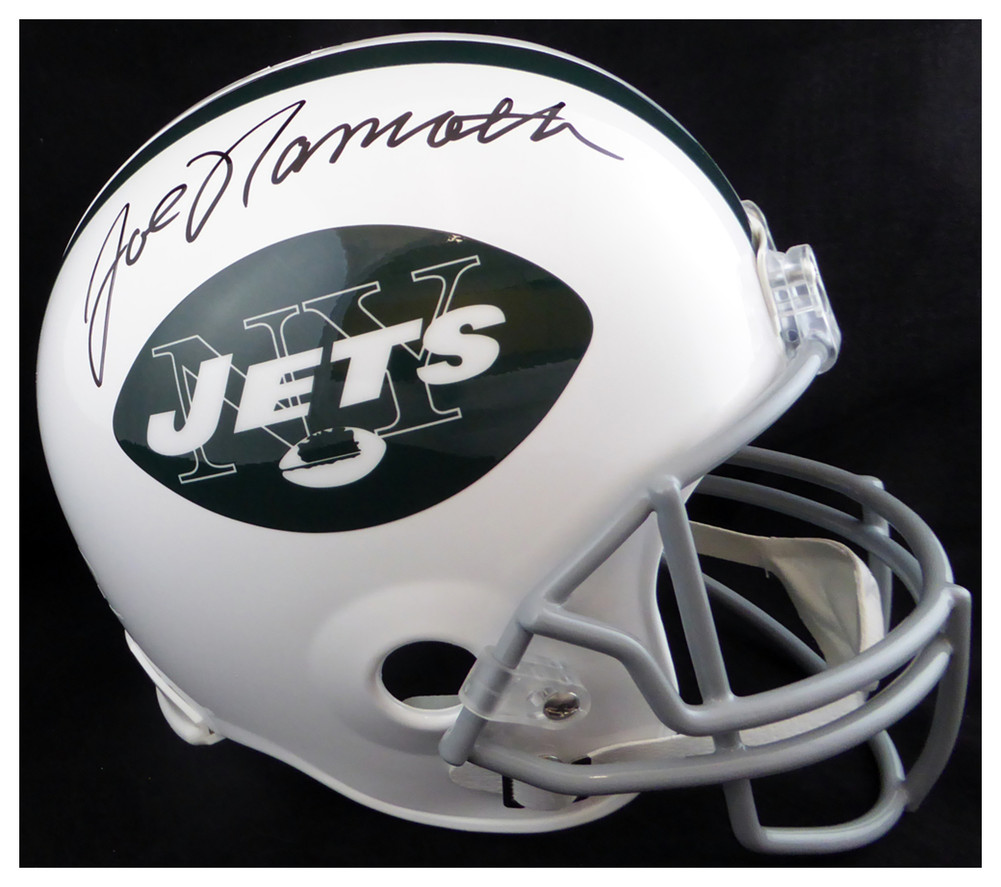 d4f2dcd1818 Joe Namath Autographed Signed New York Jets Full Size Replica Helmet -  Beckett Authentic