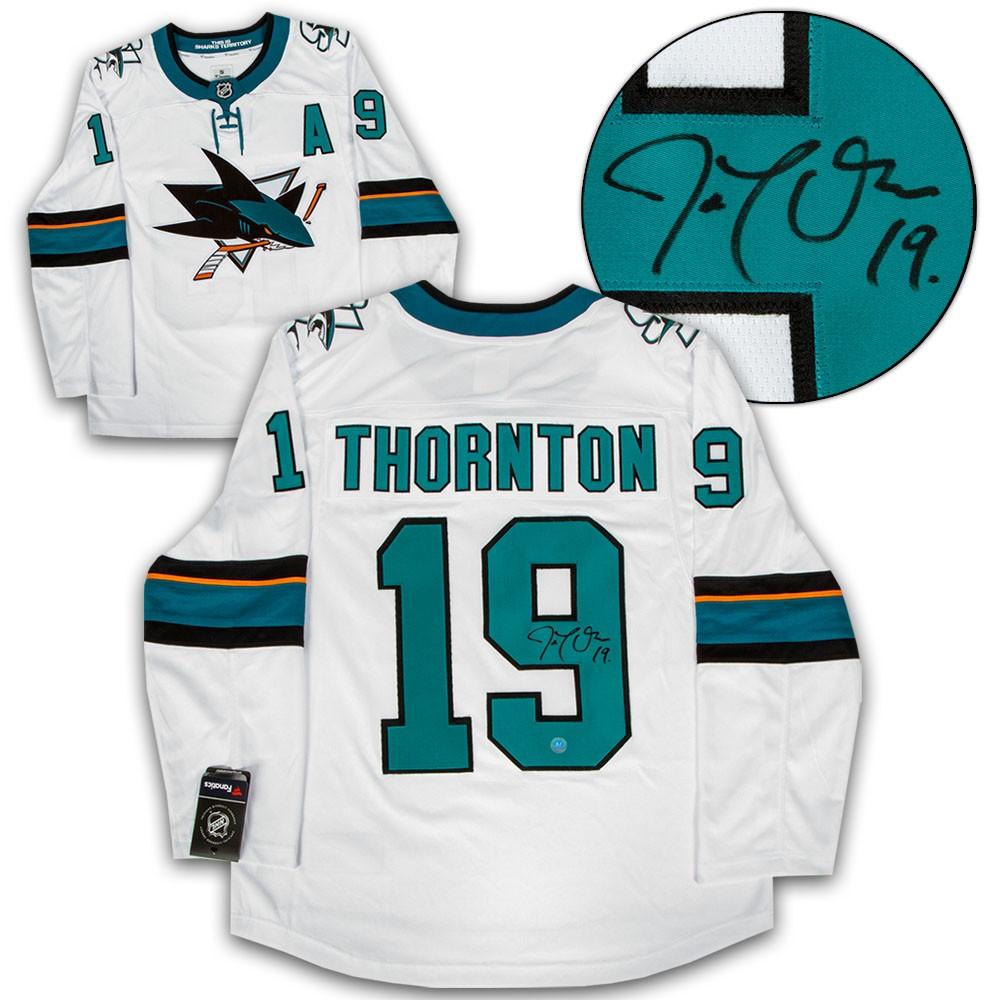 on sale 9282c 9bb19 Joe Thornton San Jose Sharks Autographed Signed White ...