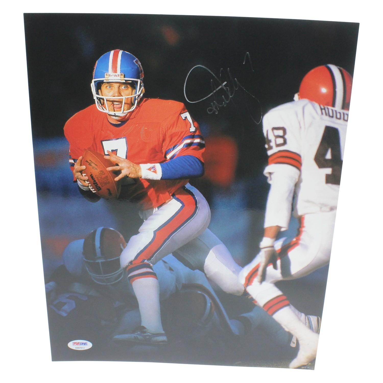 John Elway Denver Broncos Autographed Signed 11x14 Photo - PSA DNA Authentic ba7076a26