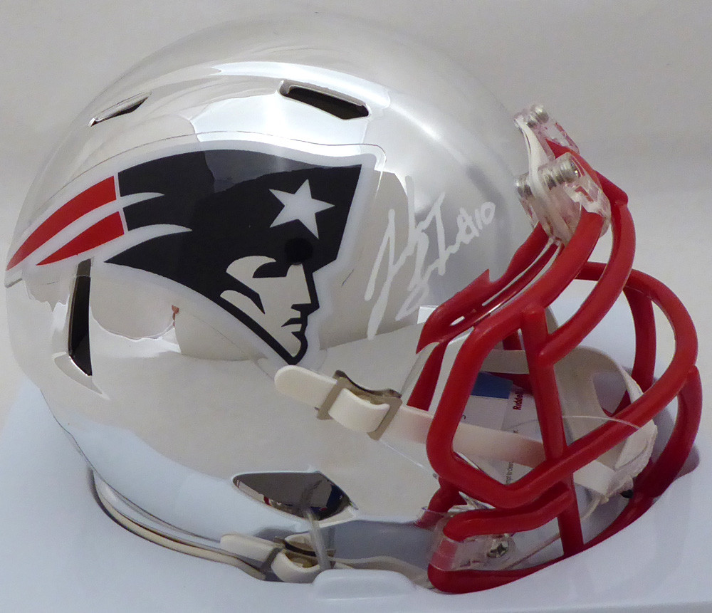 a37bbc86 Josh Gordon Autographed Signed New England Patriots Chrome Speed Mini  Helmet Autographed Signed in Front Memorabilia - Beckett Authentic