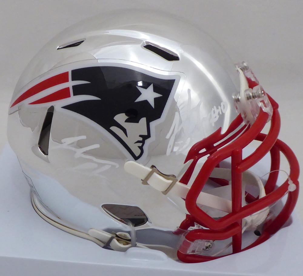 51f7a0e0 Josh Gordon Autographed Signed New England Patriots Chrome Speed Mini  Helmet Autographed Signed Twice Memorabilia - Beckett Authentic