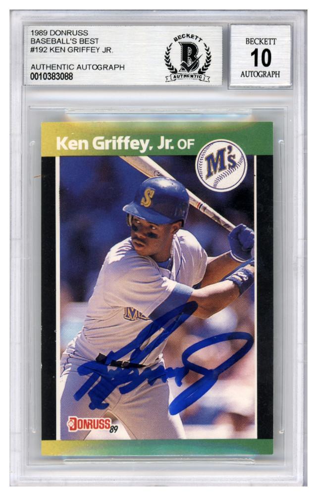 Ken Griffey Jr Autographed Signed 1989 Donruss Baseballs