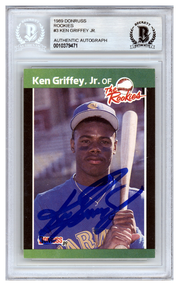 Ken Griffey Jr Autographed Signed 1989 Donruss The Rookies