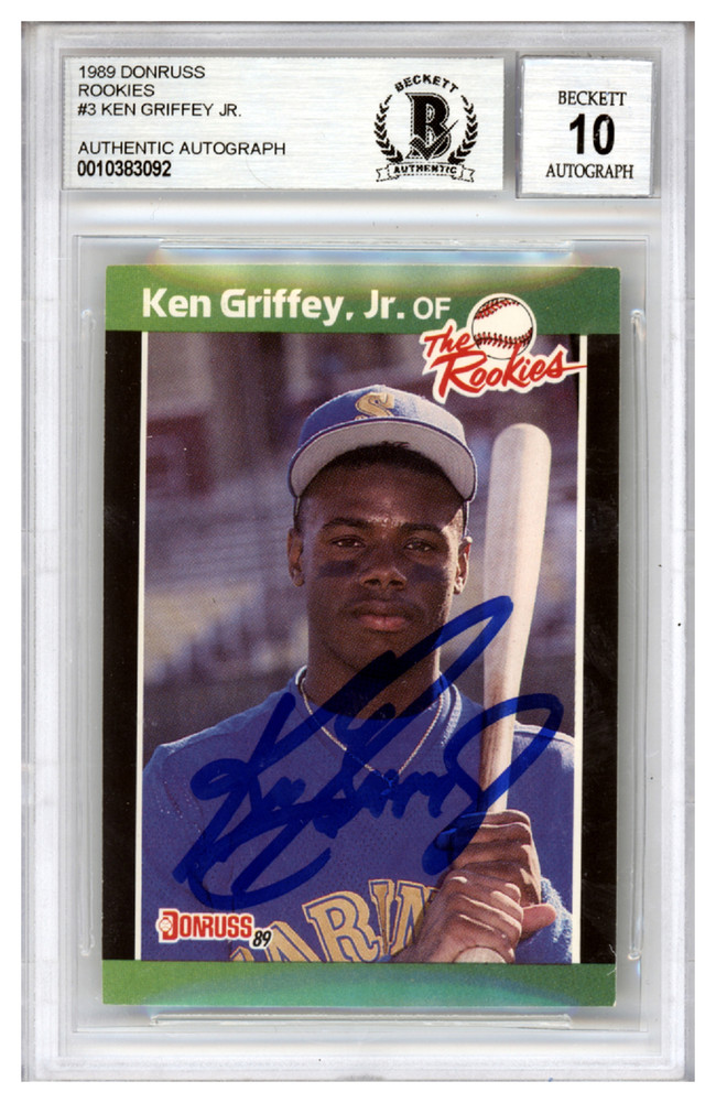 Ken Griffey Jr Autographed Signed 1989 Donruss The Rookies Rookie