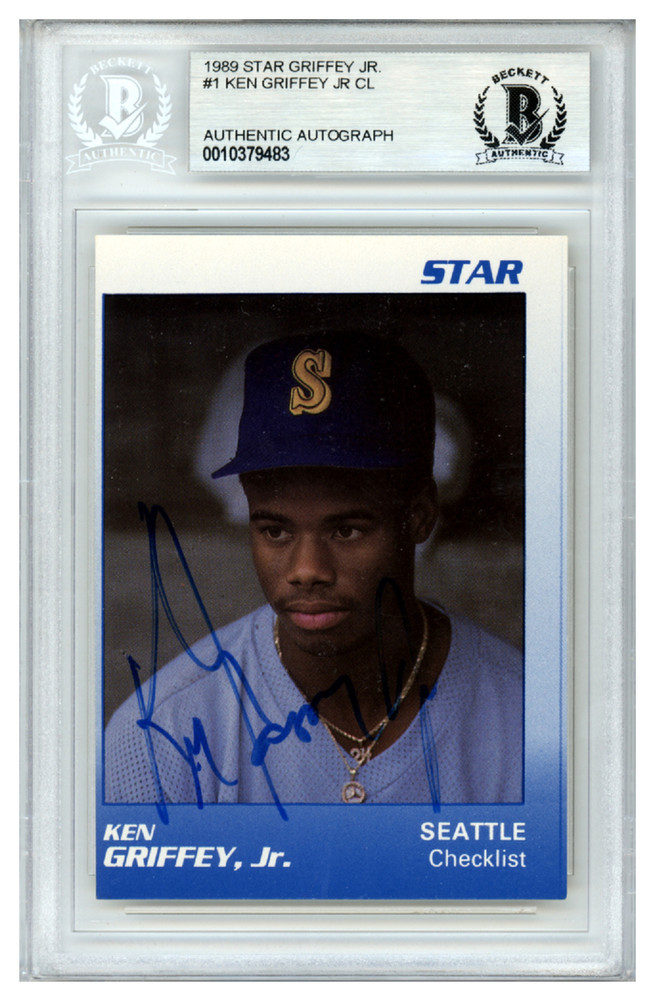 05f1659eff Ken Griffey Jr. Autographed Signed 1989 Star Rookie Card #1 Seattle ...