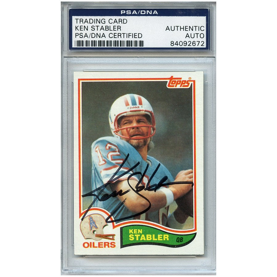 c98b4b885 Ken Stabler Autographed Signed Football Trading Card Houston Oilers PSA/DNA  #84092672
