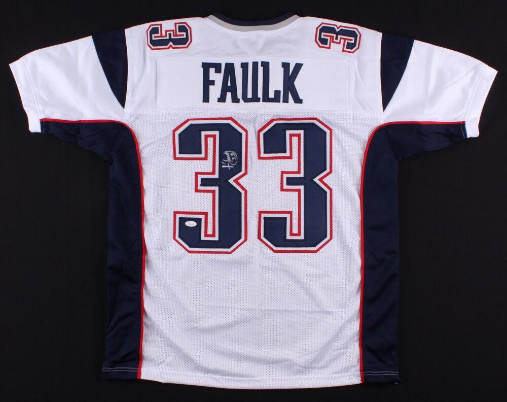 Kevin Faulk Autographed Signed Patriots Jersey (JSA COA) 3X Sb ...