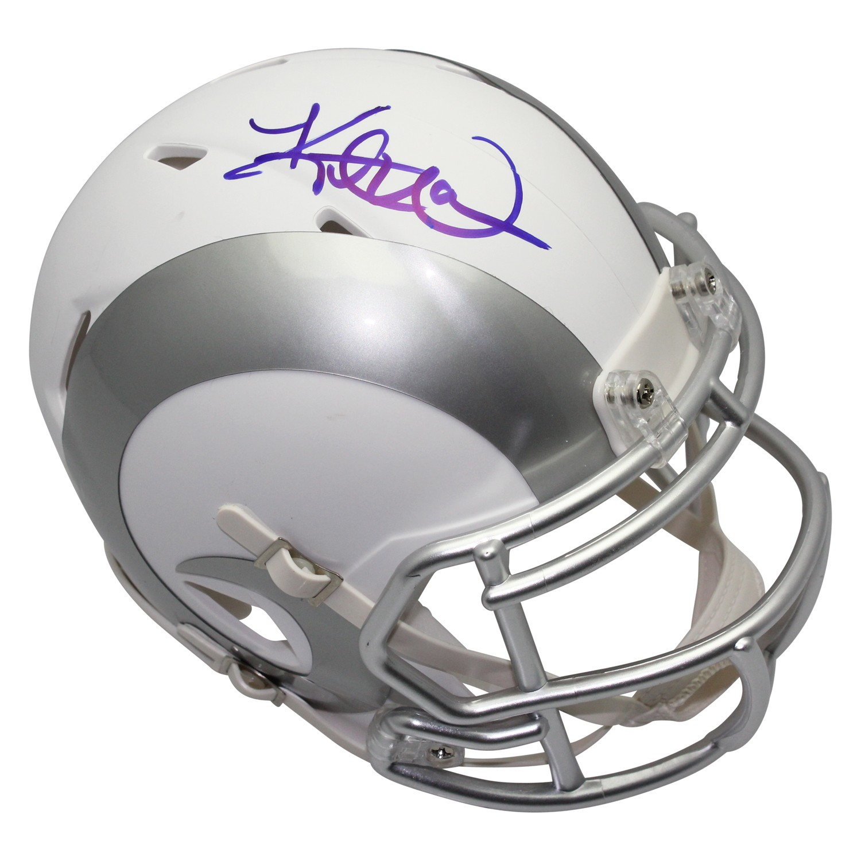 d89acd971d1 Kurt Warner Autographed Signed Los Angeles Rams ICE Mini Helmet - Certified  Authentic