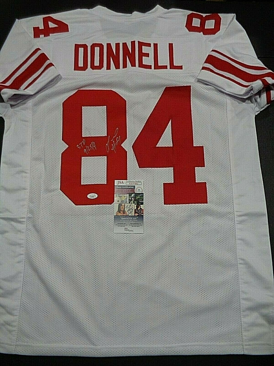 Larry Donnell Autographed Signed New York Giants Jersey Inscrip ...