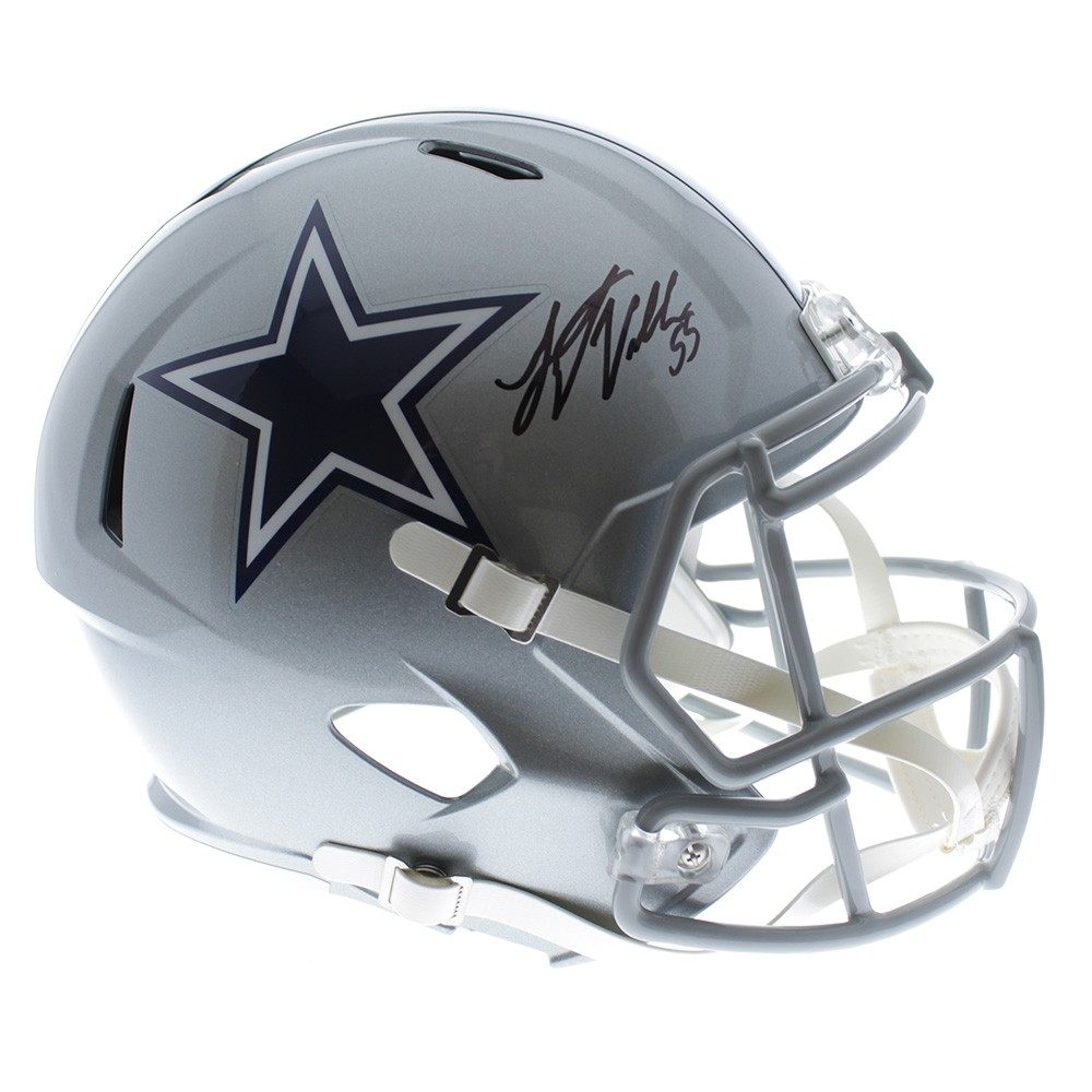 5b6b19b907c Leighton Vander Esch Dallas Cowboys Autographed Signed Riddell Full Size  Speed Replica Helmet - JSA Authentic