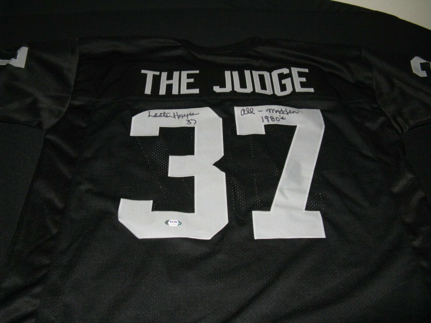 Lester Hayes Autographed Signed Oakland Raiders Jersey The Judge ...