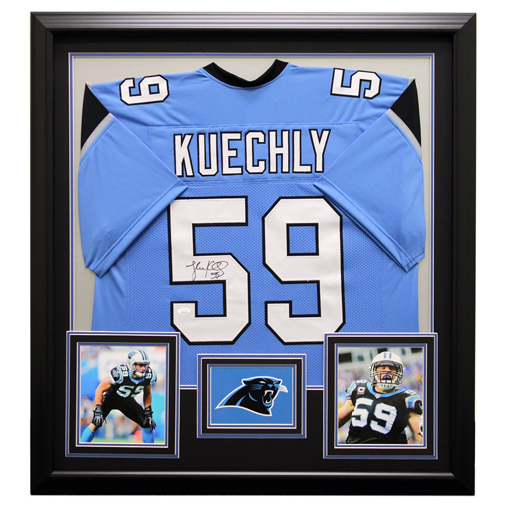 best website e8b76 56f1a Luke Kuechly Autographed Signed Carolina Panthers Framed ...
