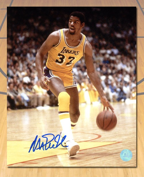 77bd19895 Magic Johnson Los Angeles Lakers Autographed Signed Showtime Basketball 8x10  Photo - Certified Authentic