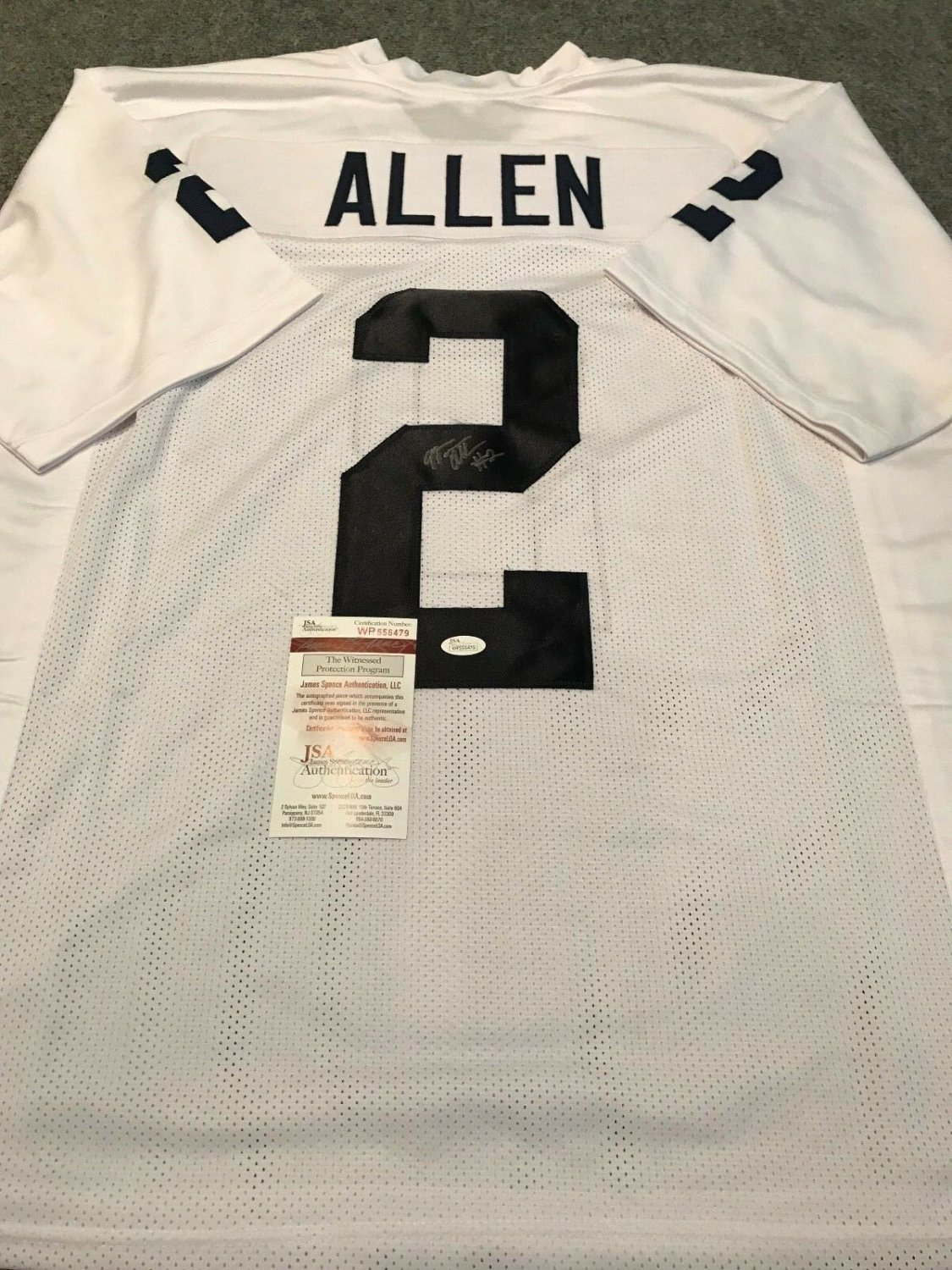 new styles 3e75b 516a9 Marcus Allen Autographed Signed Penn State Jersey - JSA ...