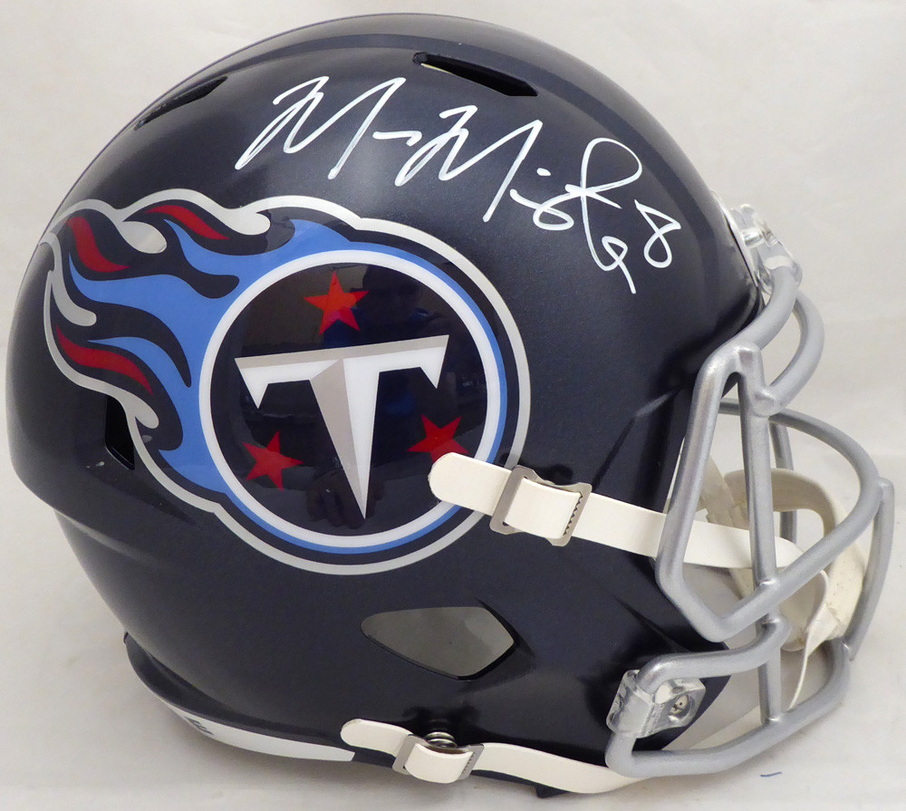 pretty nice 74764 a5987 Marcus Mariota Autographed Signed Tennessee Titans Full Size ...