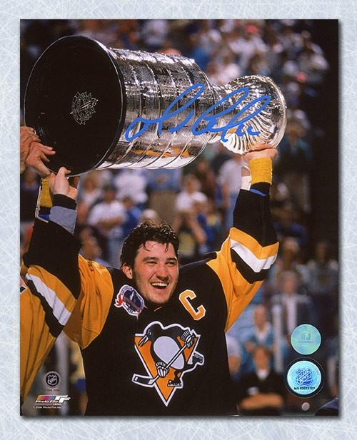 Mario Lemieux Pittsburgh Penguins Autographed Signed 1991 Stanley Cup 8x10 Photo