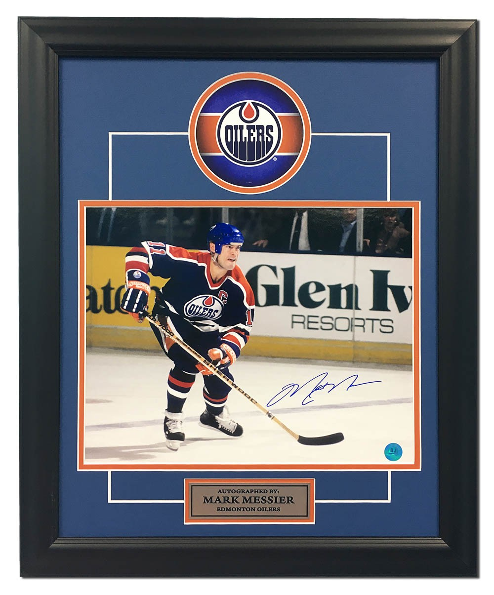 Mark Messier Edmonton Oilers Autographed Signed Hockey Rush 19x23 Frame -  Certified Authentic - Certified Authentic d89867d65