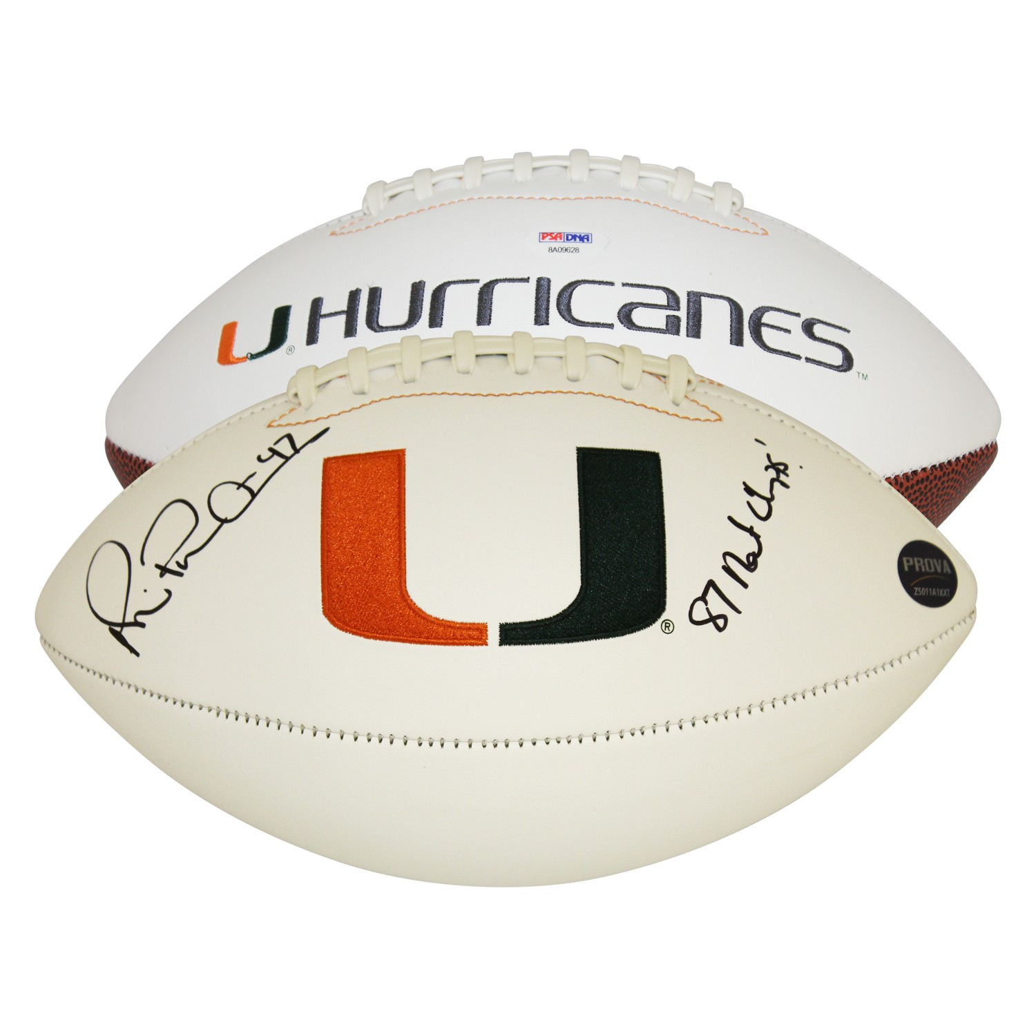 the best attitude a2743 f484d Michael Irvin Miami Hurricanes Autographed Signed White ...