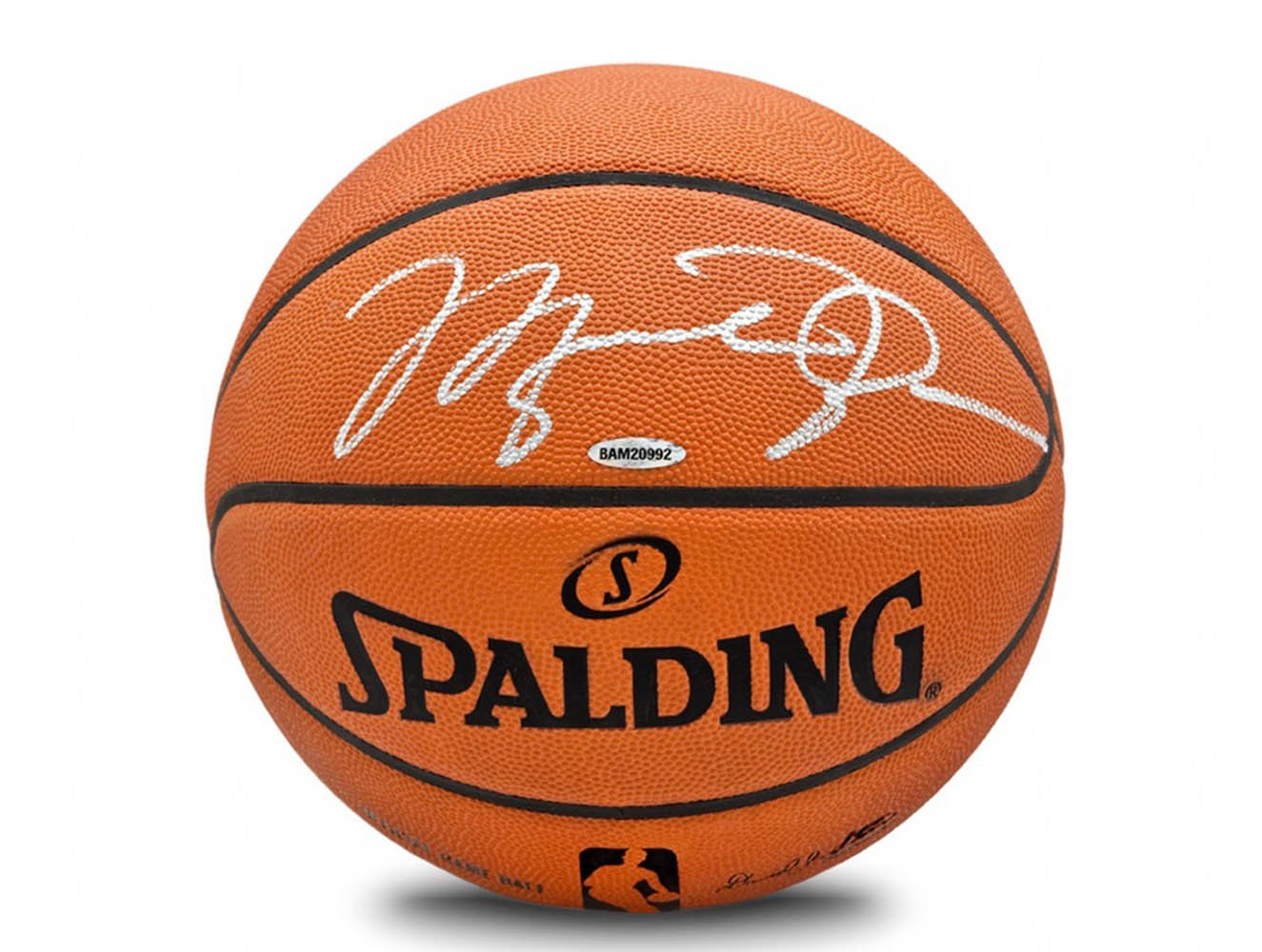 137fe6ee62e Michael Jordan Autographed Signed Spalding NBA Official Game Basketball:  Upper Deck - Certified Authentic