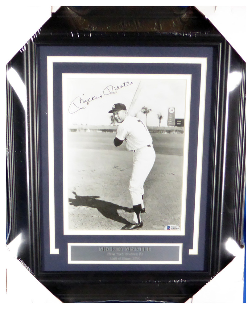 Mickey Mantle Autographed Memorabilia Signed Framed 8x10 Photo New ...