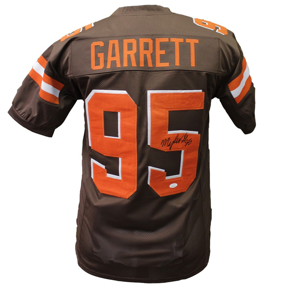new style f0a47 731ed Myles Garrett Autographed Signed Cleveland Browns Home ...
