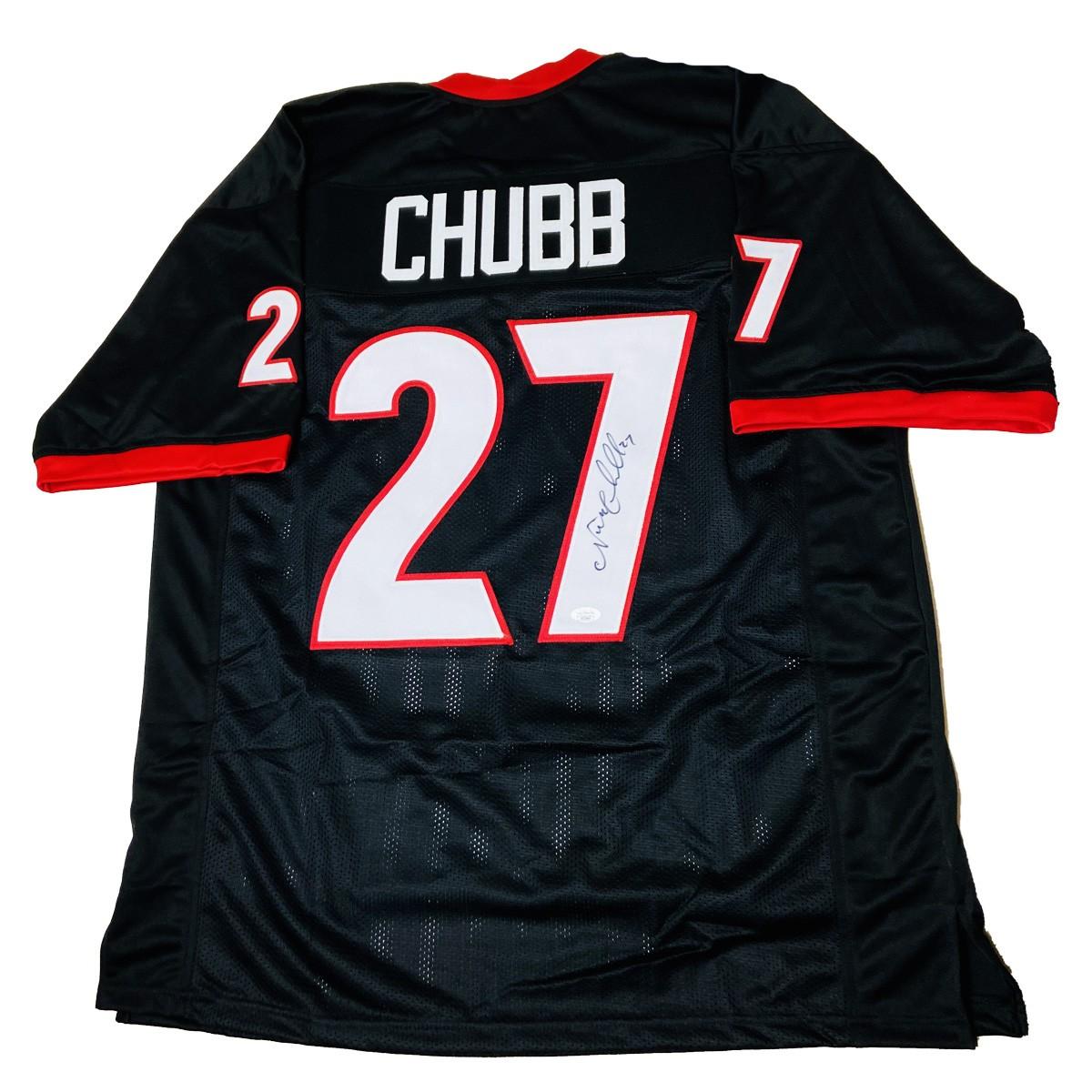 Nick Chubb Georgia Bulldogs Autographed Signed Black Jersey - JSA ...