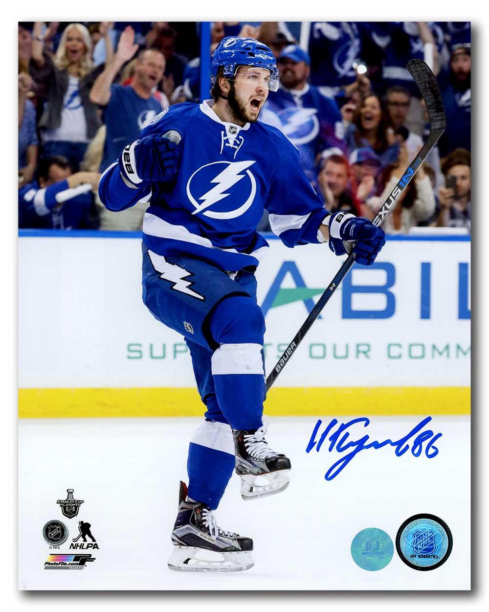 Nikita Kucherov Tampa Bay Lightning Autographed Signed Goal ... e5e52d895
