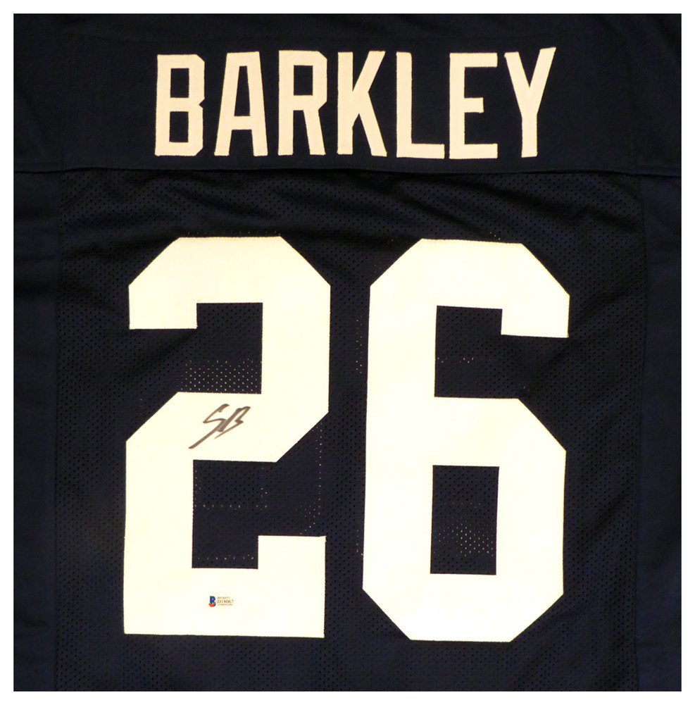 38309c997 Penn State Nittany Lions Saquon Barkley Autographed Signed Blue Jersey -  Beckett Authentic