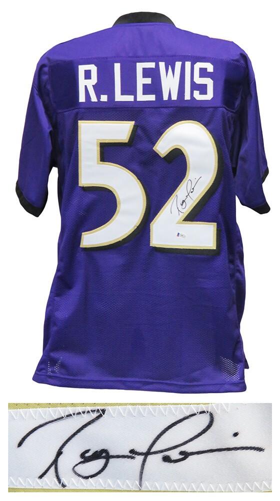 Ray Lewis Autographed Signed Purple Custom Football Jersey ...