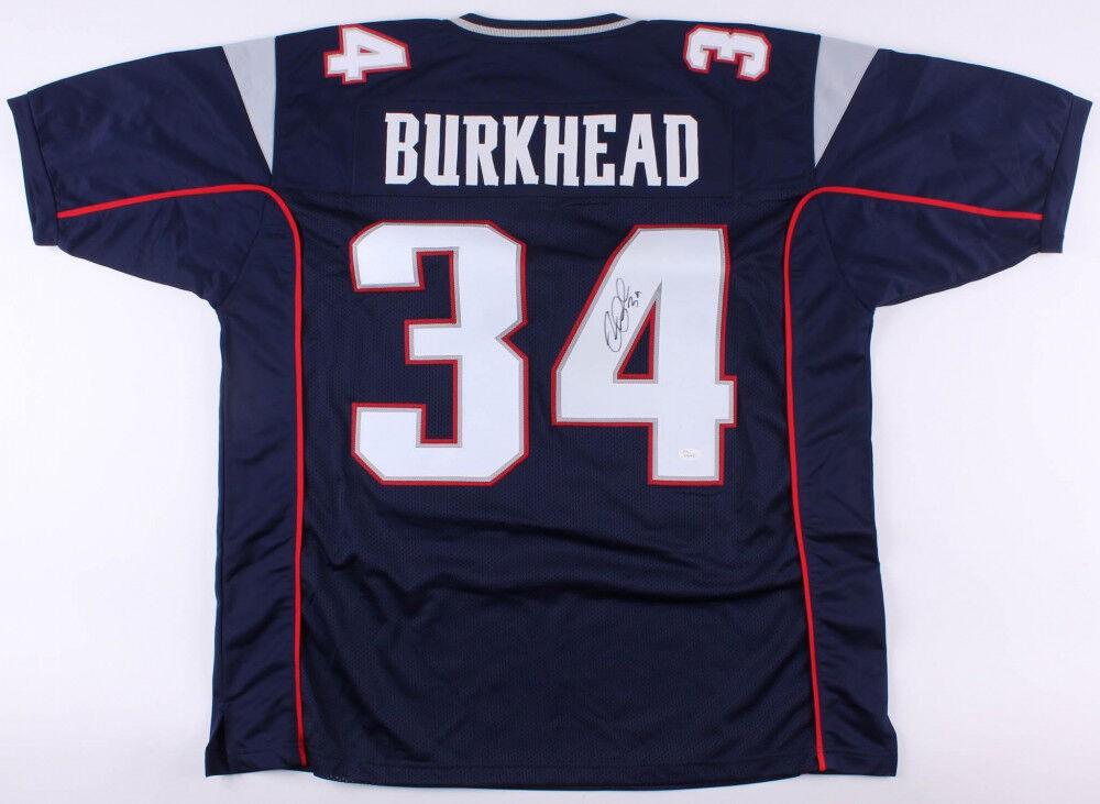 Rex Burkhead Autographed Signed Patriots Jersey (JSA COA) Nebraska ...