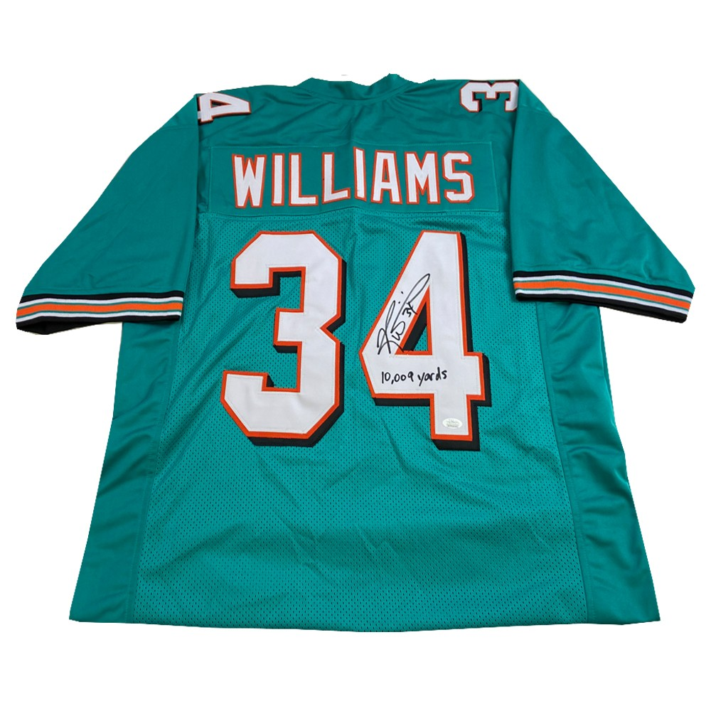Ricky Williams Autographed Signed Teal Miami Dolphins Jersey with ...