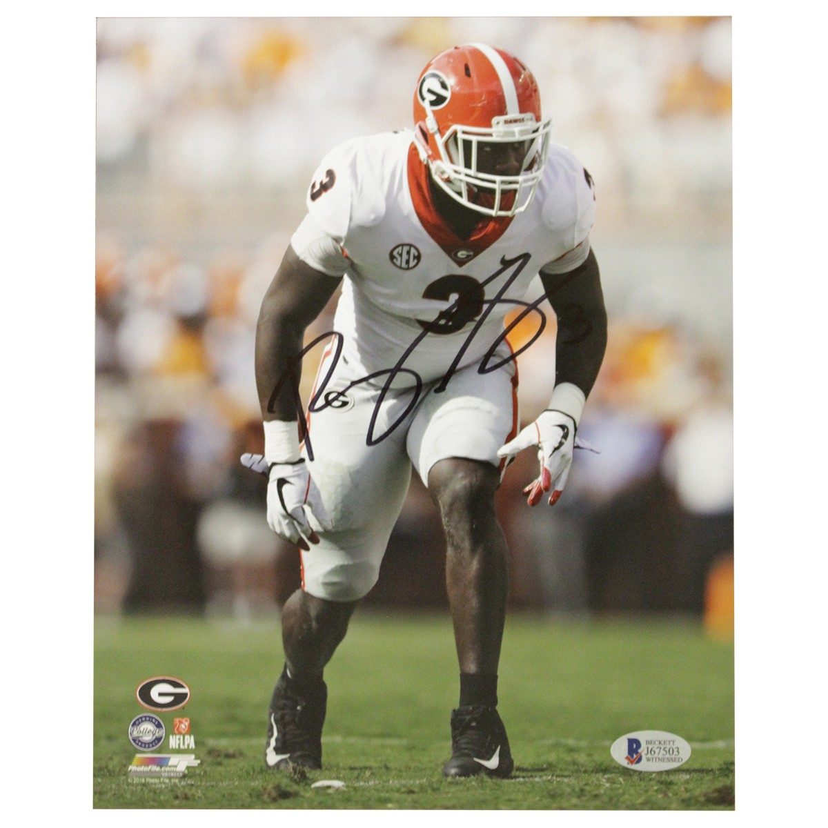 reputable site 6472d 94390 Roquan Smith Georgia Bulldogs Autographed Signed 8x10 Photo ...