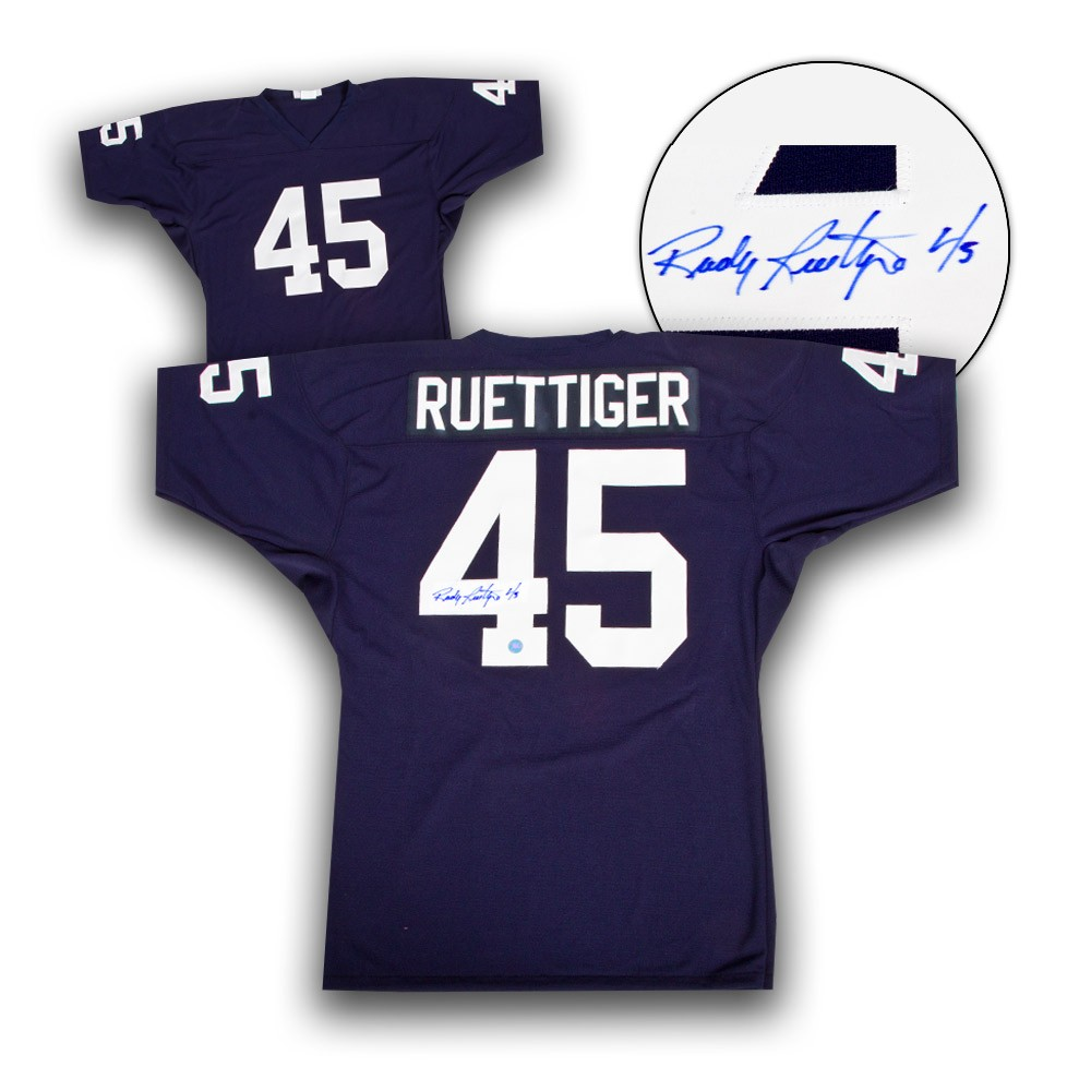 Rudy Ruettiger University of Notre Dame Autographed Signed Custom Football  Jersey - Certified Authentic b48189fc3