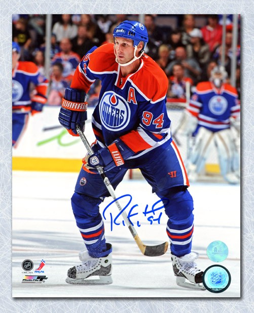 23e9b8168 Ryan Smyth Edmonton Oilers Autographed Signed Game Action 8x10 Photo -  Certified Authentic