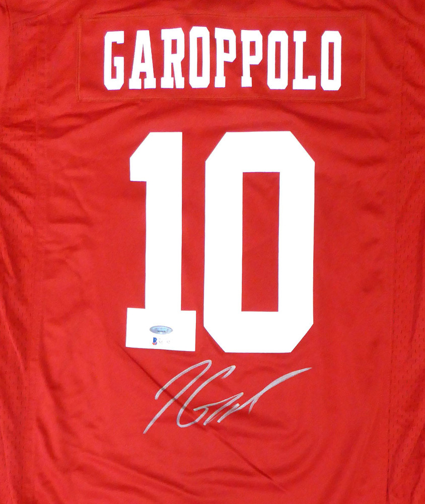 timeless design 412cf 34e23 San Francisco 49ers Jimmy Garoppolo Autographed Signed Auto ...