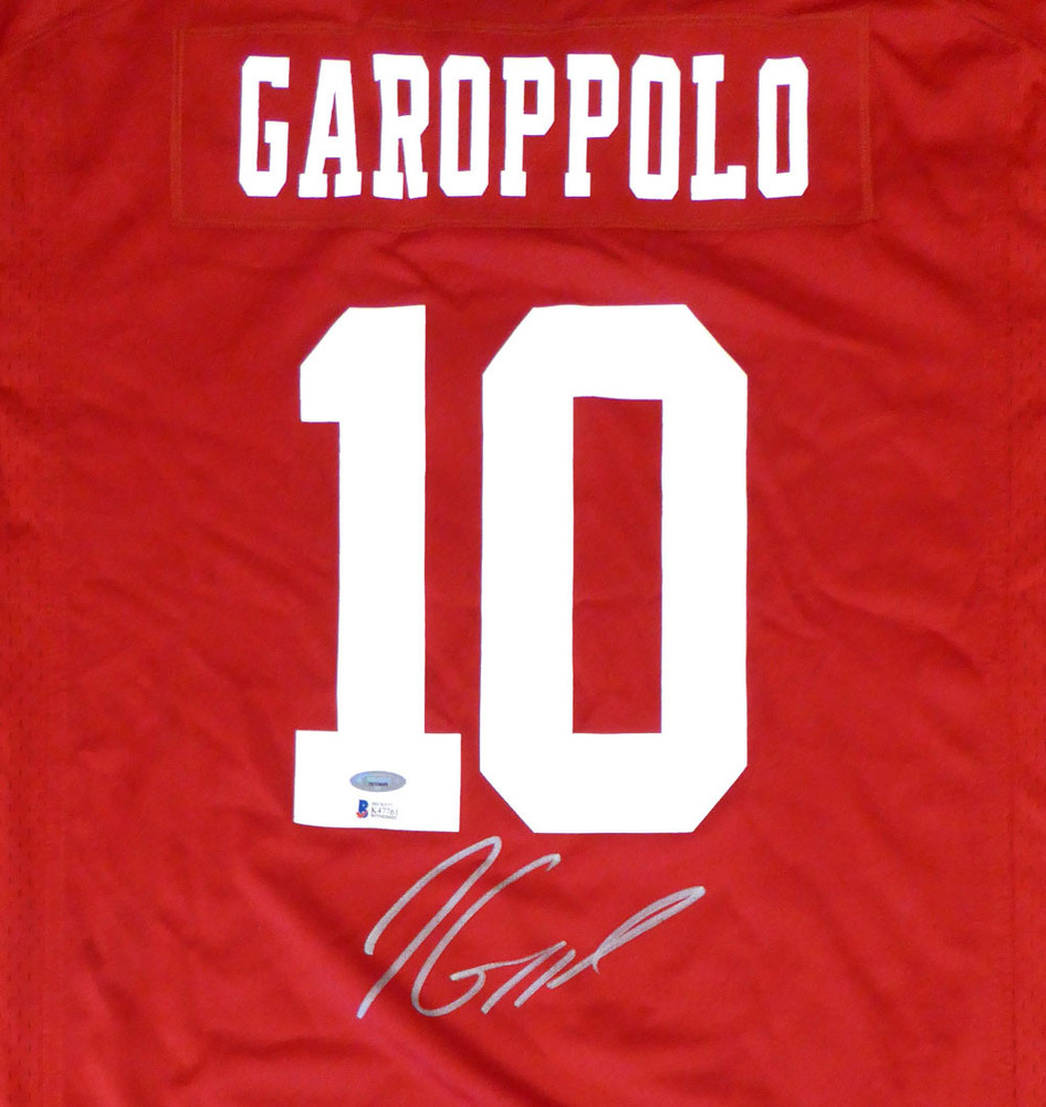 San Francisco 49ers Jimmy Garoppolo Autographed Signed Auto Red Nike Jersey  Size XL TriStar   - Beckett Certified 99e25beac