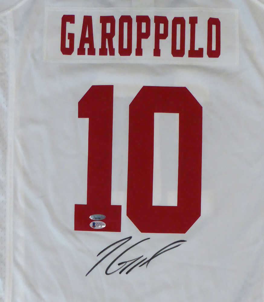 6b3d21f37ed San Francisco 49ers Jimmy Garoppolo Autographed Signed Auto White Nike  Jersey Size XL TriStar   - Beckett Certified